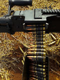 Es ist Maschinengewehr Stockbild