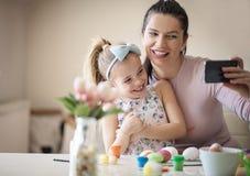 Es ist nicht Familienzeit ohne ein Selbstporträt lizenzfreie stockfotos