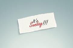 Es ist Sonntag! lizenzfreie abbildung
