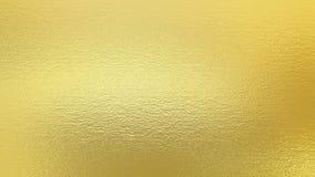 Es ist Tapetengoldfarbe Dekorative Beschaffenheit der goldenen Folie Lizenzfreies Stockbild