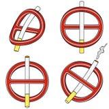 Es ist verboten, um zu rauchen (Zeichen vier 3d) Lizenzfreies Stockfoto