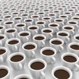 Es ist viele Tasse Kaffees Stockfotos