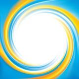 Es kann für Leistung der Planungsarbeit notwendig sein Nationale ukrainische Farben: Gelb und Cyan-blaues Stockfotografie