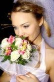 Es la novia apacible-romántica Imagenes de archivo