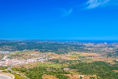 Es Mercadal Town Area Viewed from Monte Toro Royalty Free Stock Photos
