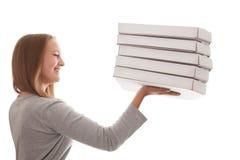 ¡Es mucha pizza para ellos! Imagen de archivo libre de regalías
