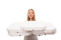 ¡Es mucha pizza para usted! Imágenes de archivo libres de regalías