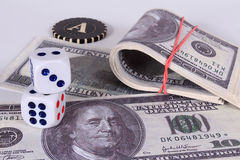 Es mucho dinero Un premio en un casino imagen de archivo