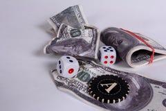 Es mucho dinero Un premio en un casino imágenes de archivo libres de regalías