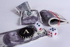 Es mucho dinero Un premio en un casino fotos de archivo