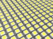 Es mucho microprocesador del LED Imagenes de archivo