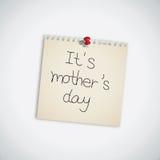 Es papel de nota del día de madre Foto de archivo libre de regalías