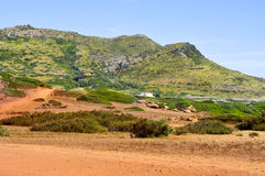 Es Pla Vermell and Binimela coast in Menorca Royalty Free Stock Photo