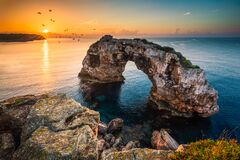 Free Es Pontas, Natural Ach In Mallorca With Birds Royalty Free Stock Photography - 170012997