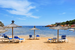 Es Pou des Lleo cove in Ibiza Island, Spain Stock Photo