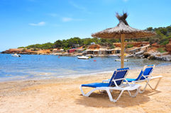 Es Pou des Lleo cove in Ibiza Island, Spain Stock Image