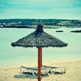 Es Pujols Beach in Formentera, Balearic Islands, Spain Stock Photo