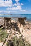Es Pujols port in Formentera island Royalty Free Stock Photos