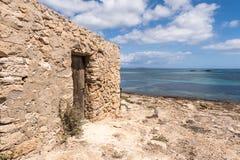 Es Pujols port in Formentera Stock Image