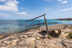 Es Pujols port in Formentera Royalty Free Stock Images