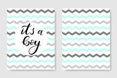 Es ` s ein Junge Babyparty-Plakat lizenzfreie stockbilder