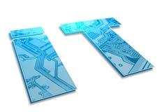 ES Symbol Lizenzfreies Stockbild