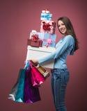 ¡Es tiempo que hace compras! Foto de archivo libre de regalías