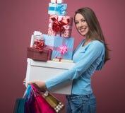 ¡Es tiempo que hace compras! Imagen de archivo libre de regalías