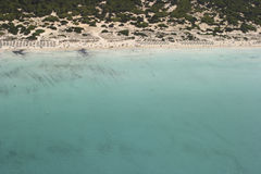 Es trenc beach aerial view Stock Photo