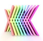 Es un arco iris 3d ilustración del vector