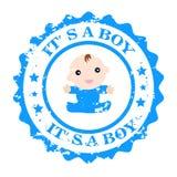 Es un sello del vector del muchacho stock de ilustración