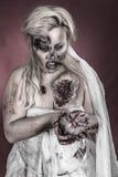 Novia del zombi Foto de archivo libre de regalías