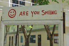 Es usted que sonríe Fotos de archivo libres de regalías