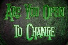 Es usted se abre para cambiar concepto Imagen de archivo