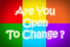 Es usted se abre para cambiar concepto Fotografía de archivo