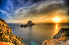 ES Vedrà ¡ -伊维萨岛- La roca 免版税库存图片