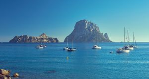 es vedra Остров Ibiza, Балеарские острова Испания стоковая фотография rf