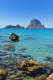 Es Vedra Cala d'Hort Ibiza Spain Royalty Free Stock Photography