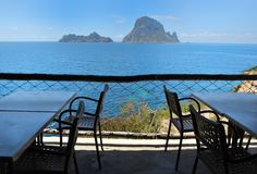 Es Vedra Cala d'Hort, Ibiza Spain Stock Photo