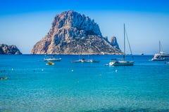 Es vedra island of Ibiza  Cala d Hort in Balearic islands Royalty Free Stock Image