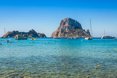 Es vedra island of Ibiza  Cala d Hort in Balearic islands Stock Images