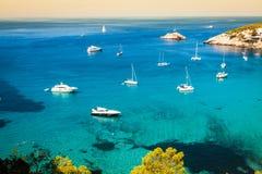 Es vedra island of Ibiza  Cala d Hort in Balearic islands Stock Photography