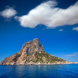 Es Vedra island of Ibiza close view from boat Royalty Free Stock Photo