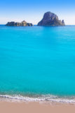 Es vedra island of Ibiza view from Cala d Hort Royalty Free Stock Photography