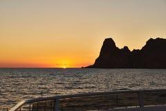 Es Vedra no por do sol, Ibiza, Espanha Fotos de Stock