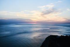 Es Vedra no por do sol, Ibiza, Espanha Imagens de Stock Royalty Free