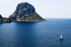 Es Vedra no por do sol, Ibiza, Espanha Fotografia de Stock Royalty Free