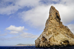 Es Vedra rocky coast Stock Photography