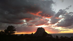 Es Vedra Sunset Ibiza Royalty Free Stock Photo