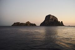 Es Vedra at sunset, Ibiza, Spain Stock Photography